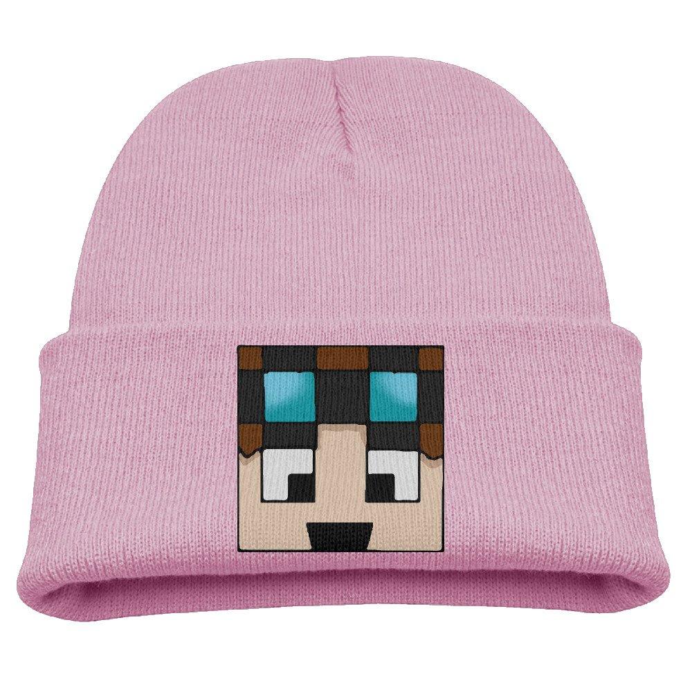 Dan TDM Warm Winter Hat Knit Beanie Skull Cap Cuff Beanie Hat Winter Hats Girls Larenoto