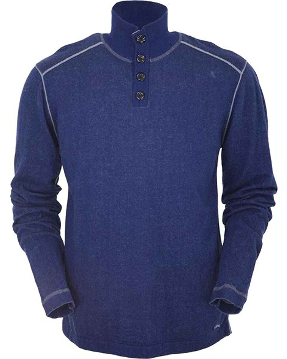 Navy Cooper Henley Outback Trading Co Mens Co