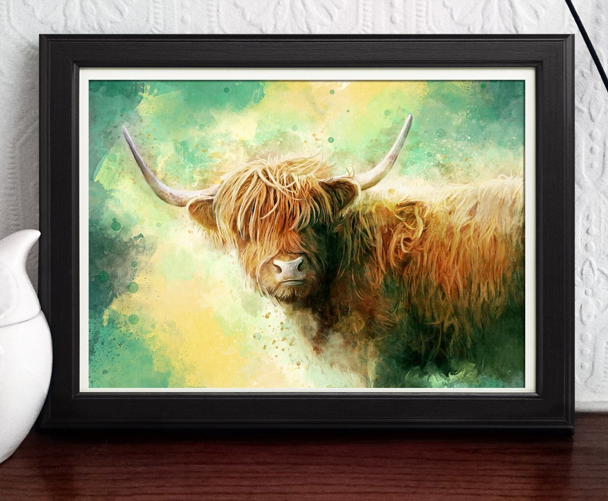 Amazon.com: Highland Cow Print - Art Painting - Scottish Cow ...