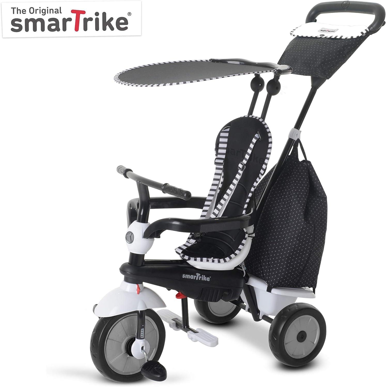 SMARTRIKE 6952400–Glow Touch Steering 4en 1Triciclo, Negro/Blanco