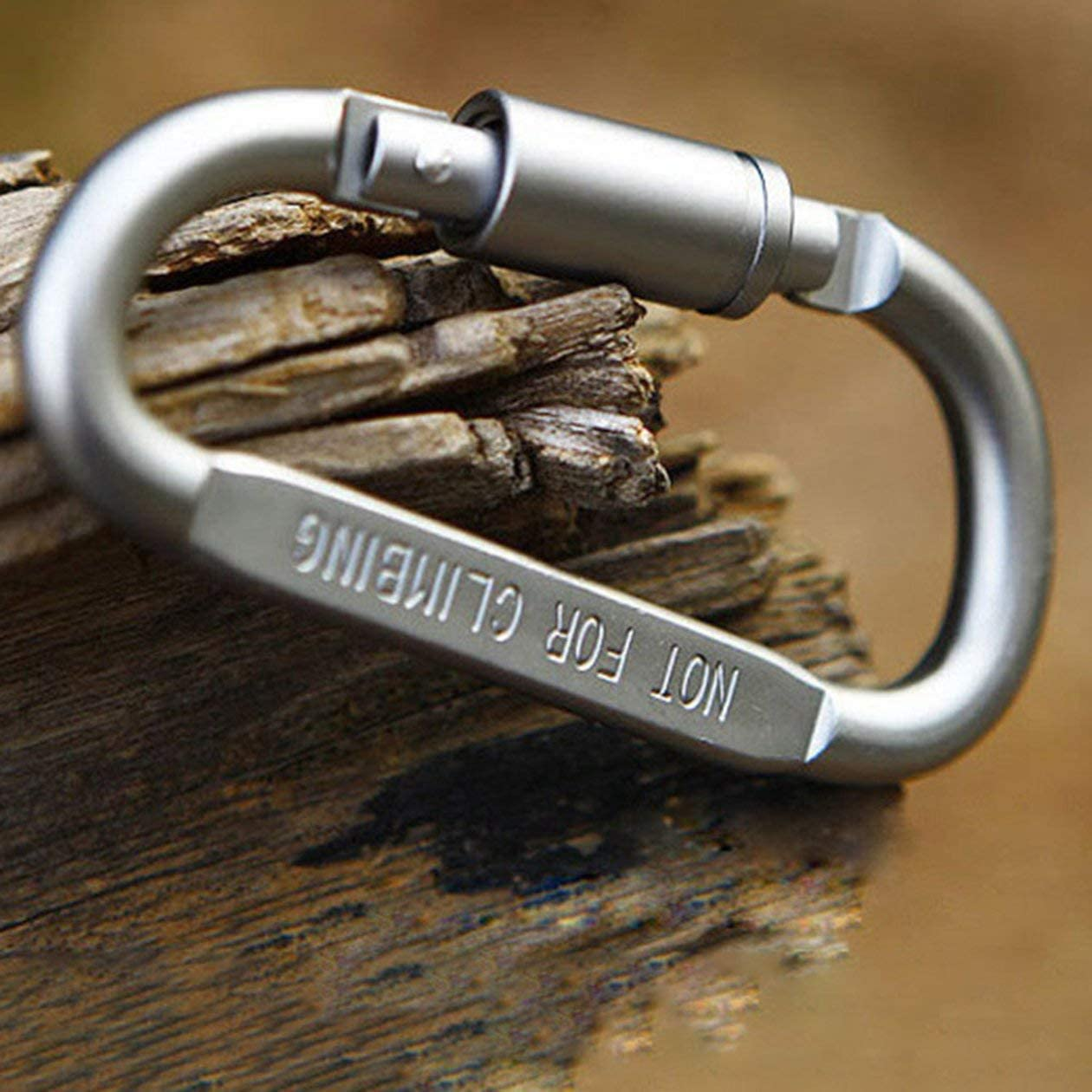 BIYI Df/örmigen Camping Karabiner Aluminiumlegierung Screw Lock Haken Clip Schl/üsselanh/änger Outdoor Camping Kletterwerkzeuge Zubeh/ör Silber