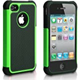 iPhone 4 Case, iPhone 4S Case, CHTech Fashion Shockproof Durable Hybrid Dual Layer Armor Defender Protective Case Cover for Apple iPhone 4/4S (Green)