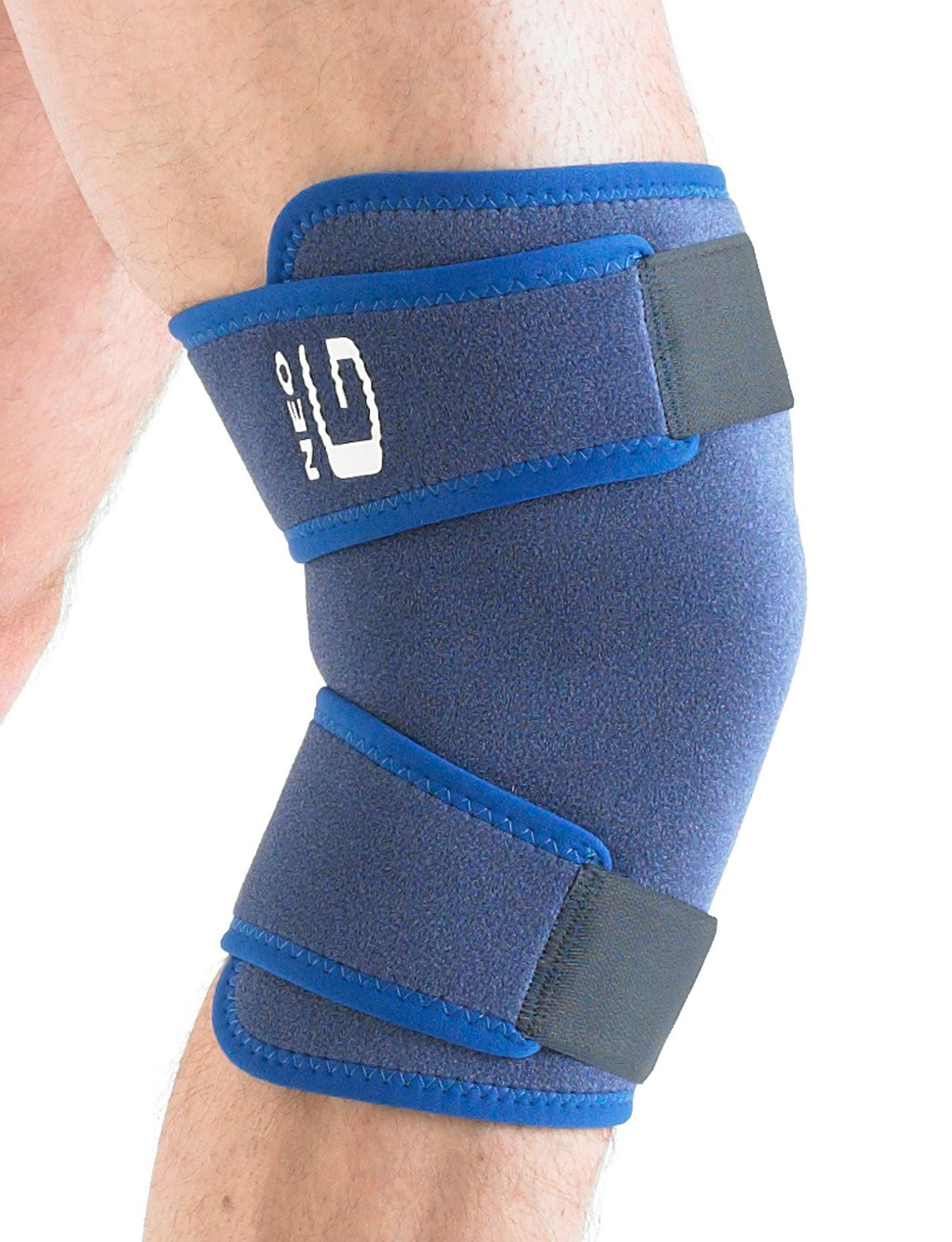 Neo G Closed Knee Brace - Support For Arthritis, Joint Pain, Meniscus Pain, Knee Injuries, Recovery, Rehabilitation - Adjustable Compression - Class 1 Medical Device - One Size - Blue