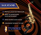 Tunne Saxophone Stand for Alto/Tenor Easily Adjusts to Display and Secure Your Sax