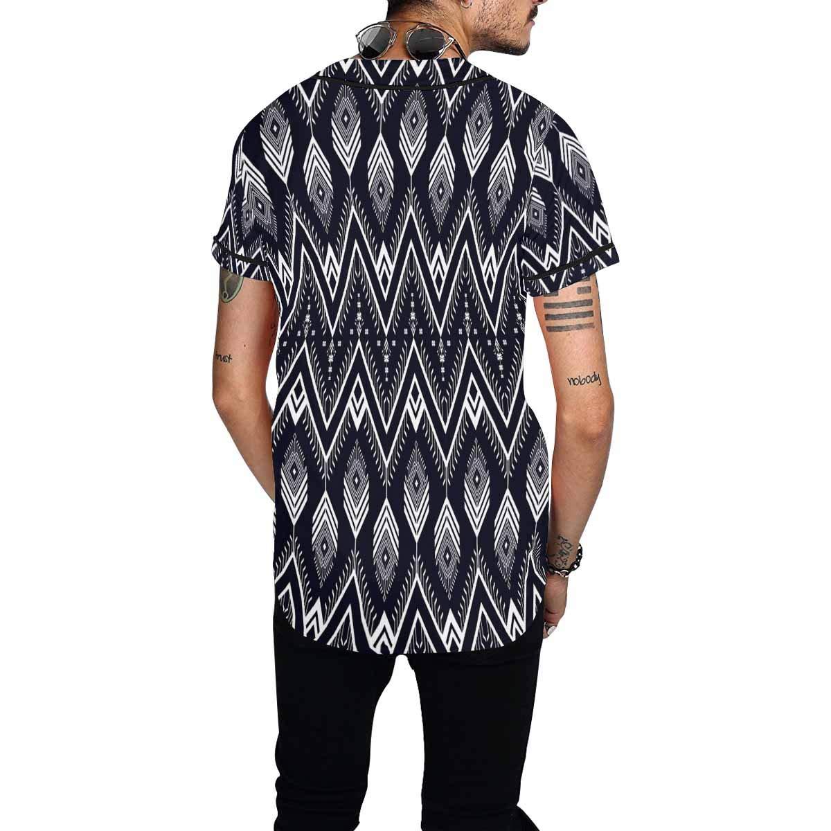 INTERESTPRINT Mens Baseball Jersey Button Down T Shirts Plain Short Sleeve