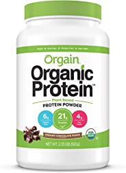 Orgain Organic Plant Based Protein Powder, Creamy Chocolate Fudge - Vegan, Low Net Carbs, Non Dairy, Gluten Free, Lactose Fr