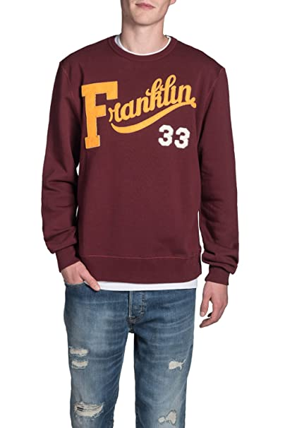 Franklin & Marshall - Sudadera FLMVA136ANW16 para Hombre, muñecas Acanalados