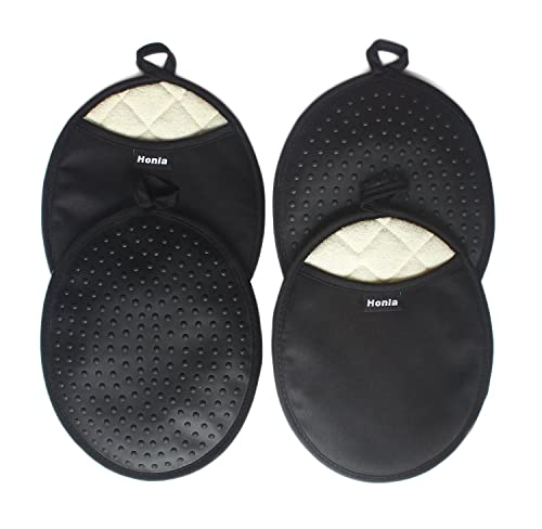 Honla 4-Piece Oval Pot Holders With Pockets