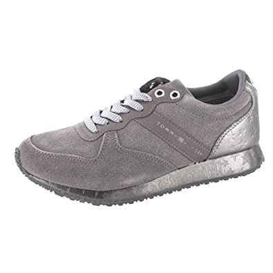 1dd053f4895d Tommy Hilfiger Damen S1285EVILLA 2C1 Sneaker, Grau (Steel Grey), 36 EU