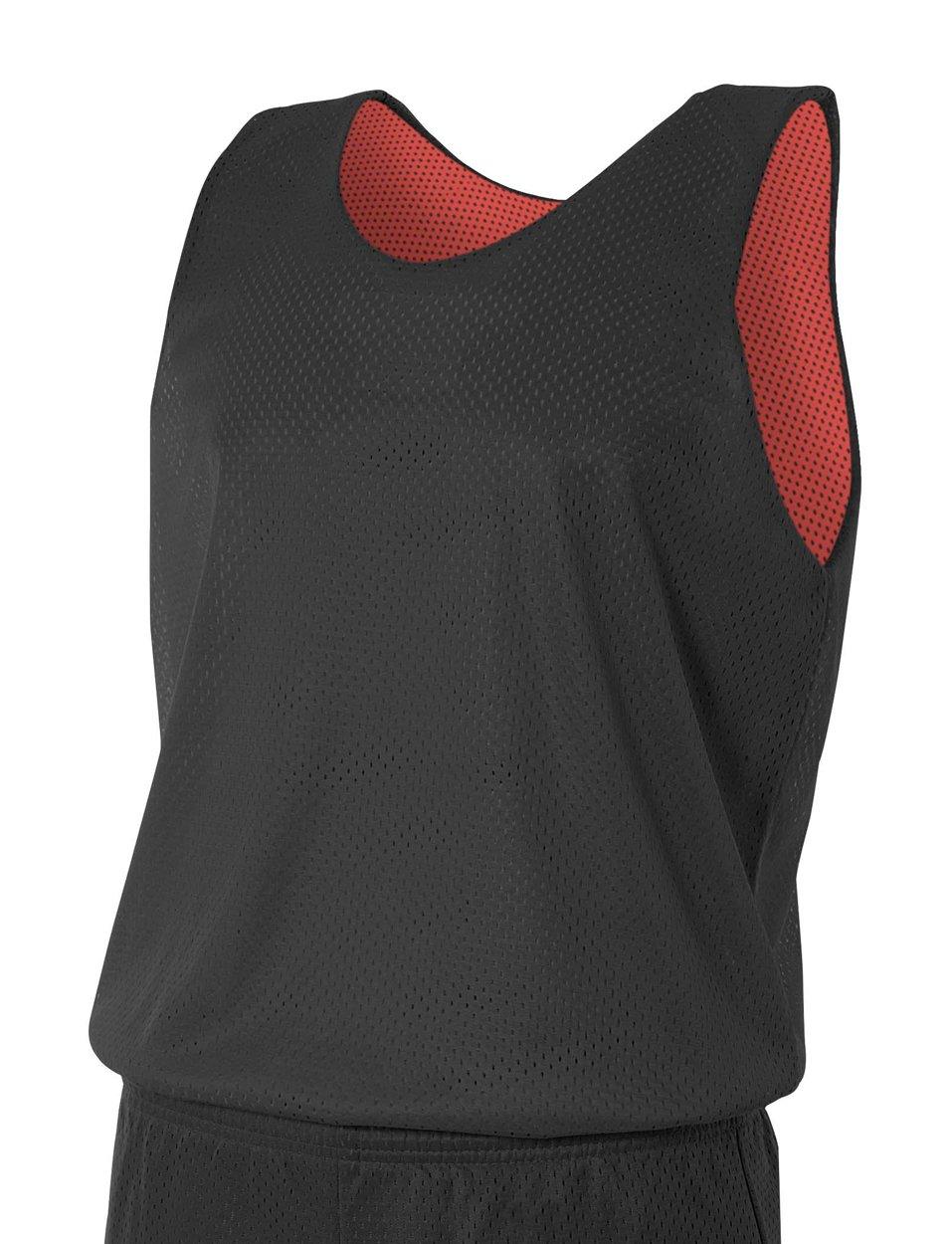 A4 N2206-BKR Reversible Mesh Tank Top, Small, Black/Red