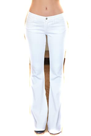 new lower prices price remains stable genuine shoes Judy Blue Fitted Trouser Flare Leg Jean - White at Amazon ...