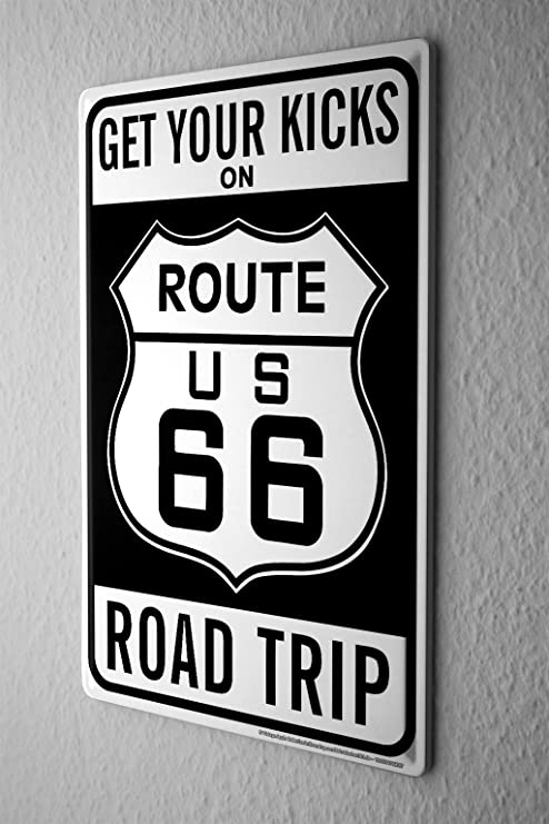 Cartel de chapa Placa metal tin sign Gira Mundial Ruta 66 EE ...