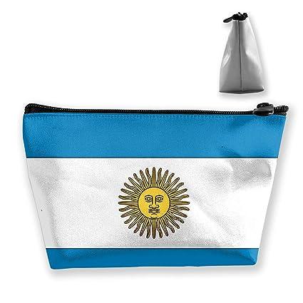 Bandera de Argentina Fútbol Orgullo Bolsa de Maquillaje ...