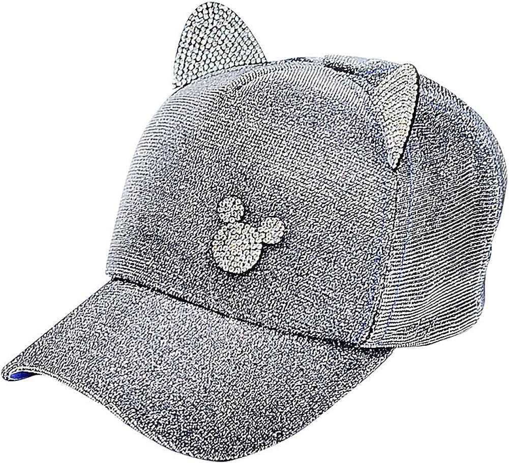 Unisex Children Cotton Baseball Cap Dome Cap Adjustable Sun Hat With Horn Ears For Boys Girls