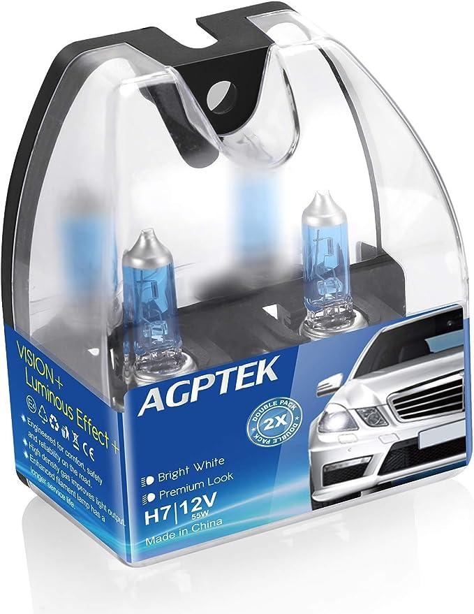 2X H4 9003 XENON ULTRA WHITE 12V 100W 6000K BRIGHT HALOGEN HEADLIGHT BULB LAMP