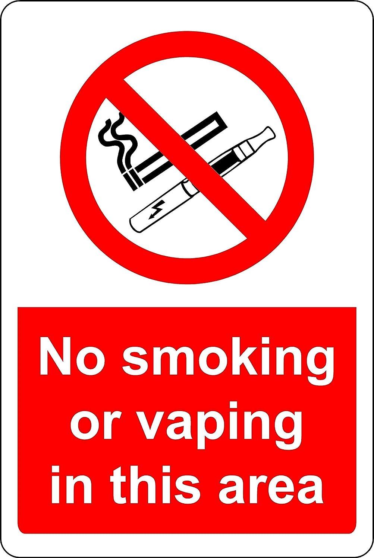 Señal de Seguridad para no Fumar o vaporizar en Esta Zona, 1,2 mm, plástico rígido, 200 mm x 150 mm