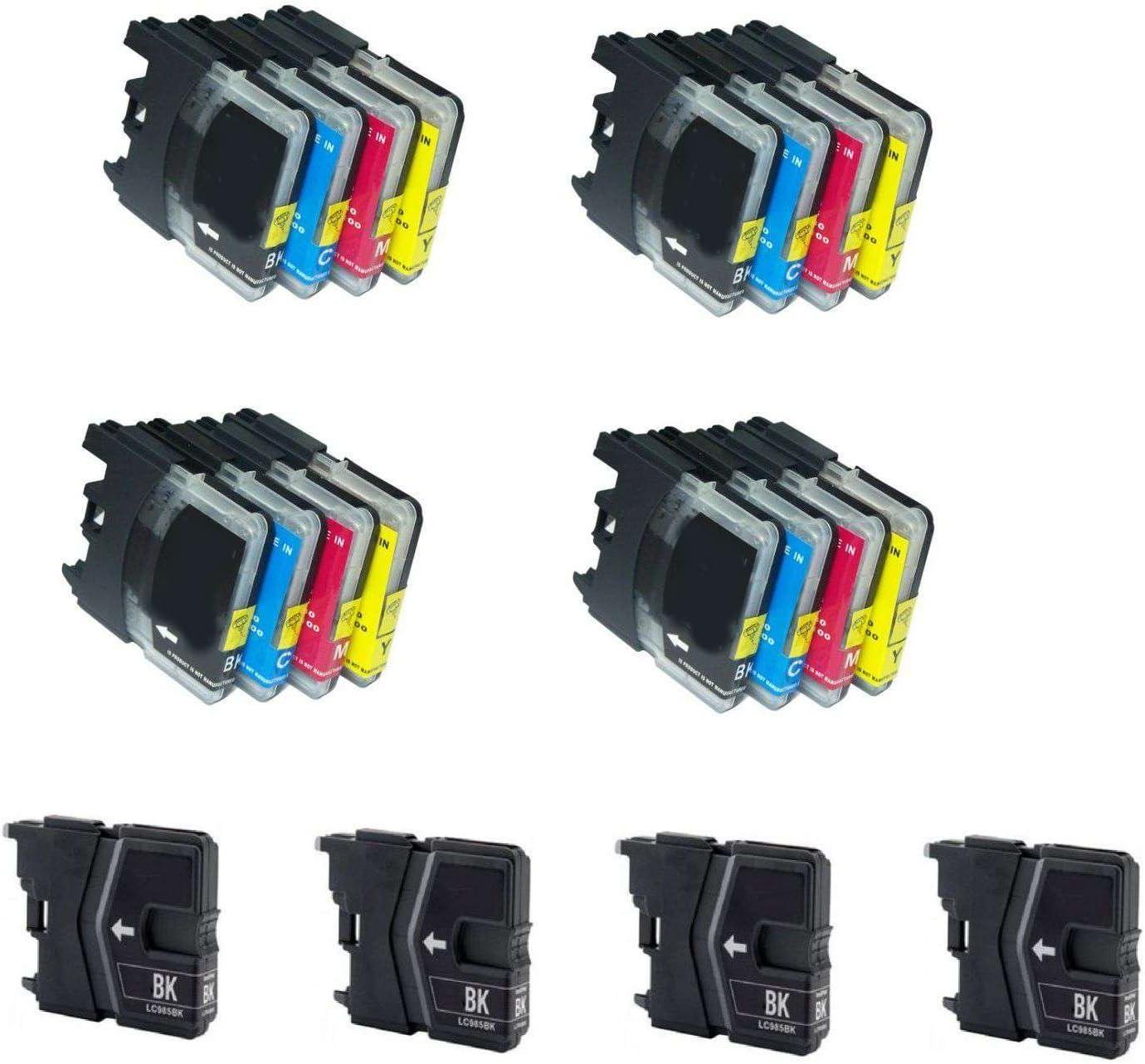 DCP J125 Bramacartuchos MFCJ220 Lc 985, MFCJ265W DCPJ125 MFC J415W MFCJ415W DCPJ515W Brother MFC J265W MFC J220 MFCJ410 DCPJ315W DCP J315W DCP J515W MFC J410 20 X Cartuchos compatibles NON OEM BROTHER LC985