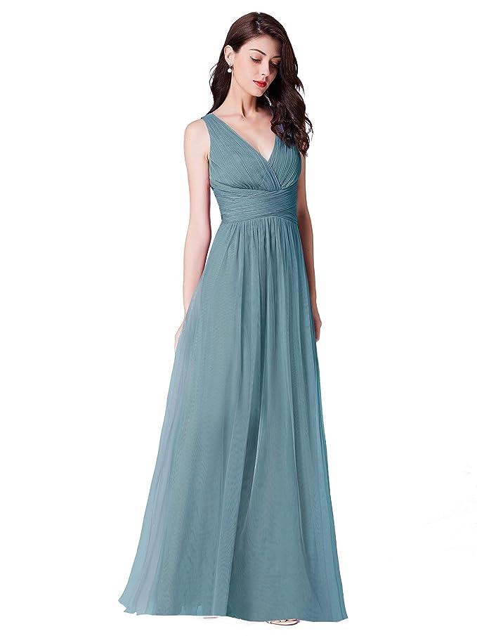Ever-Pretty A-línea Vestido de Noche Cuello en V para Mujer 07526