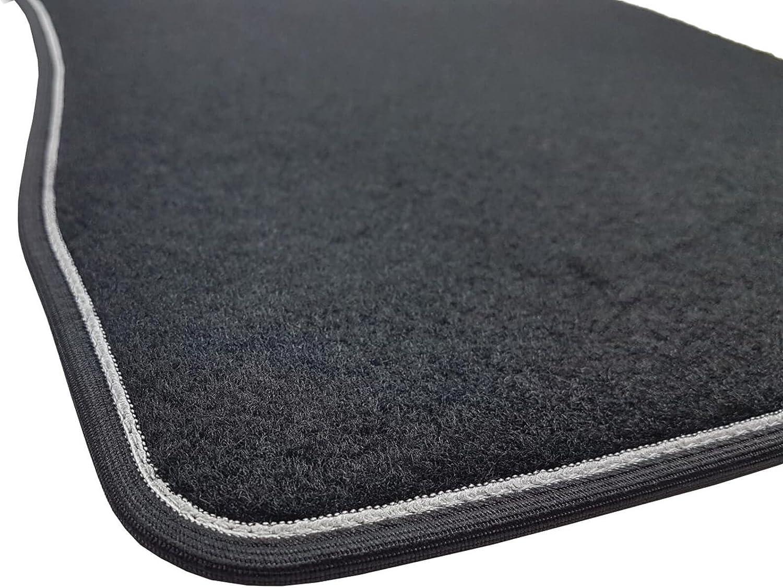 Das Teppich Auto Sprint03400 Fußmatten Teppiche Schwarz Rutschfest Verstärkter Rand Zweifarbig Absatzschoner Aus Gummi Adam Auto