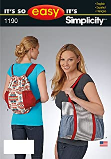 product image for Simplicity Patterns US1190OS It's So Easy Tote Bags, OS (ONE Size)