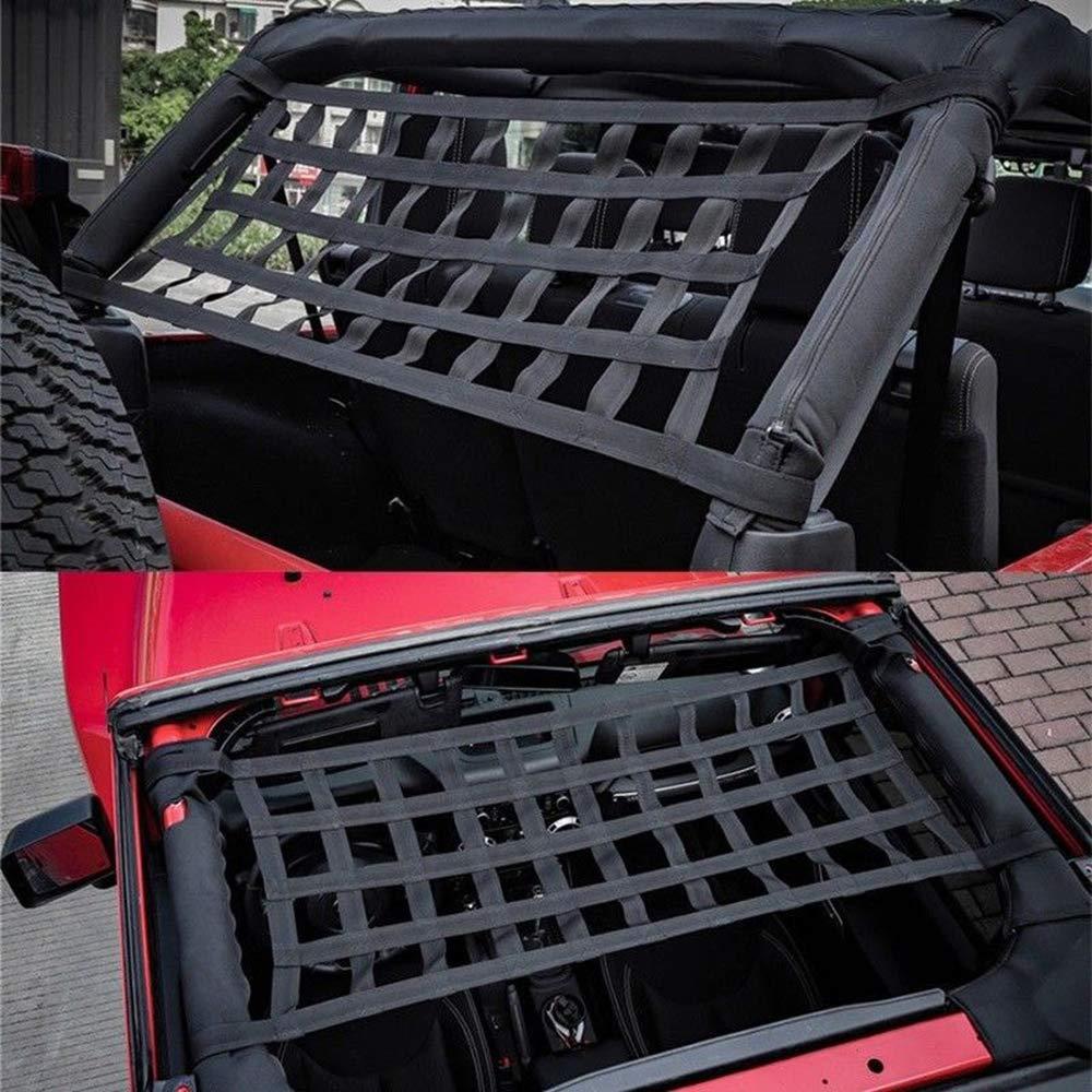 Lasamot Tettuccio per Auto Coprisedile Soft Cover per Jeep Wrangler JK 07-18