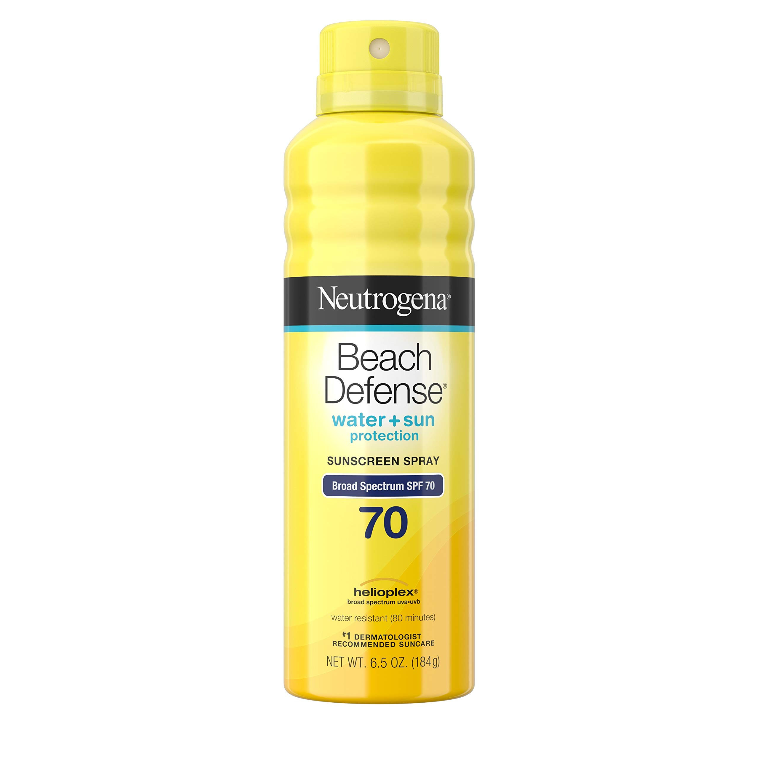 Neutrogena Beach Defense Body Spray Sunscreen with Broad Spectrum SPF 70, Water-Resistant and Oil-Free Sun Protection, 6.5 oz by Neutrogena