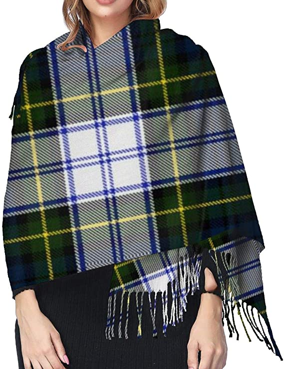 Stylish Gordon Dress Tartan Plaid Shawl Wrap Winter Warm Scarf Cape Large Scarf Oversized Scarves For Women