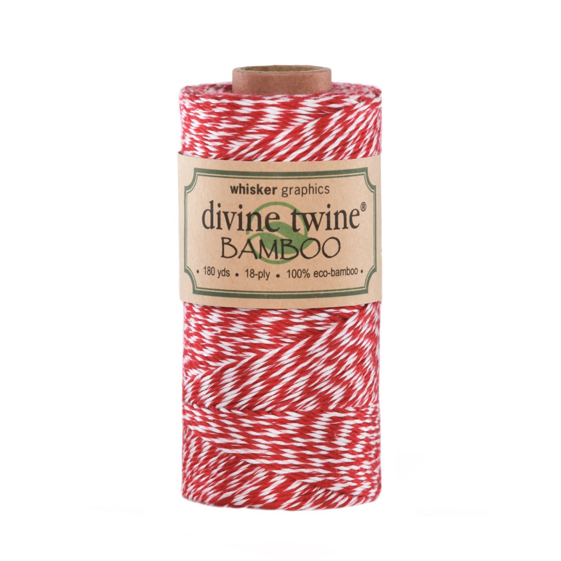 Divine Twine Eco-Bamboo, Red/White Whisker Graphics m20006
