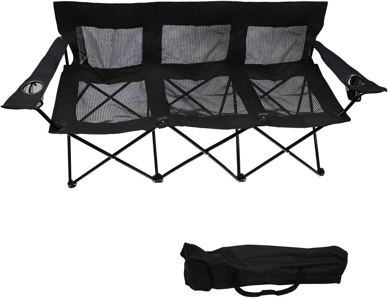 Trademark Innovations Triple Style Tri Camp Chair with Steel Frame and Mesh Seat and Back