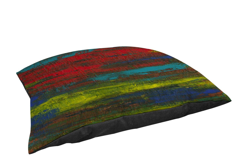 Lavoratori manuali di legno &Weavers Fleece Top Toy o Small Breed Pet Bed, immateriale, multicolore