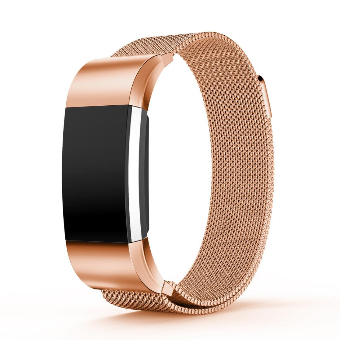 For Fitbit Charge 2バンド、for Fitbit Charge 2アクセサリー、gotd Small Milaneseステンレススチール時計バンドストラップブレスレットfor Fitbit Charge 2 B01M4FHE32 ローズゴールド