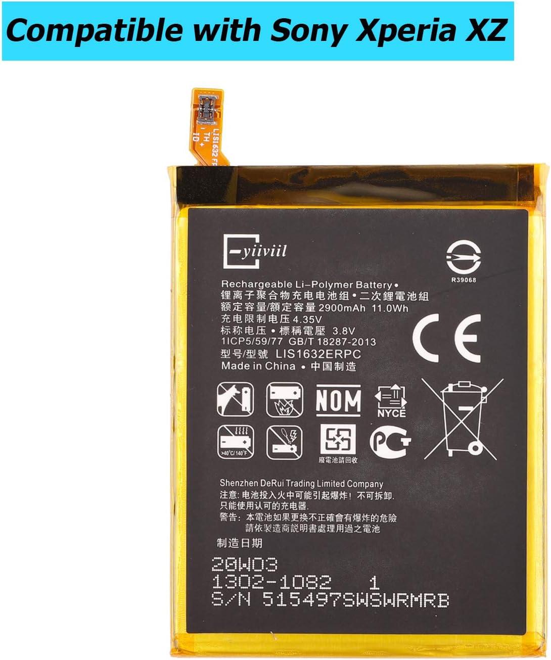 E-YIIVIIL LIS1632ERPC Bater/ía de repuesto compatible con Sony Xperia XZ F8331 F8332 con kit de herramientas