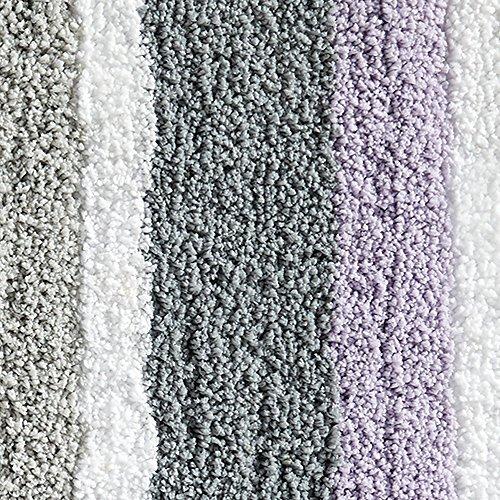 Interdesign Microfiber Bathroom Shower Accent Rug: InterDesign Stripz Bath, Machine Washable Microfiber