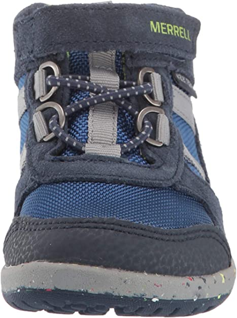 12.0 M US Little Kid Merrell Kids Unisex Bare Steps Ridge Hiking Boot Grey//Purple