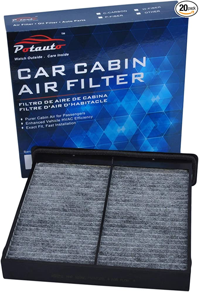 POTAUTO MAP 1054C CF10745 Replacement Activated Carbon Car Cabin Air Filter for SUBARU Forester/ Upgraded with Active Carbon