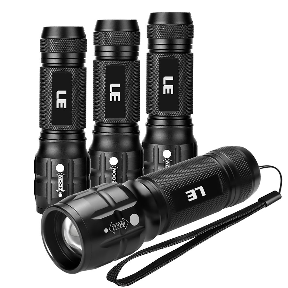 LE CREE LED Adjustable Focus Mini Tactical Flashlight Torch, Zoomable, Small Flashlight, Super Bright, Batteries Included (1 pack) Lighting EVER 1200012