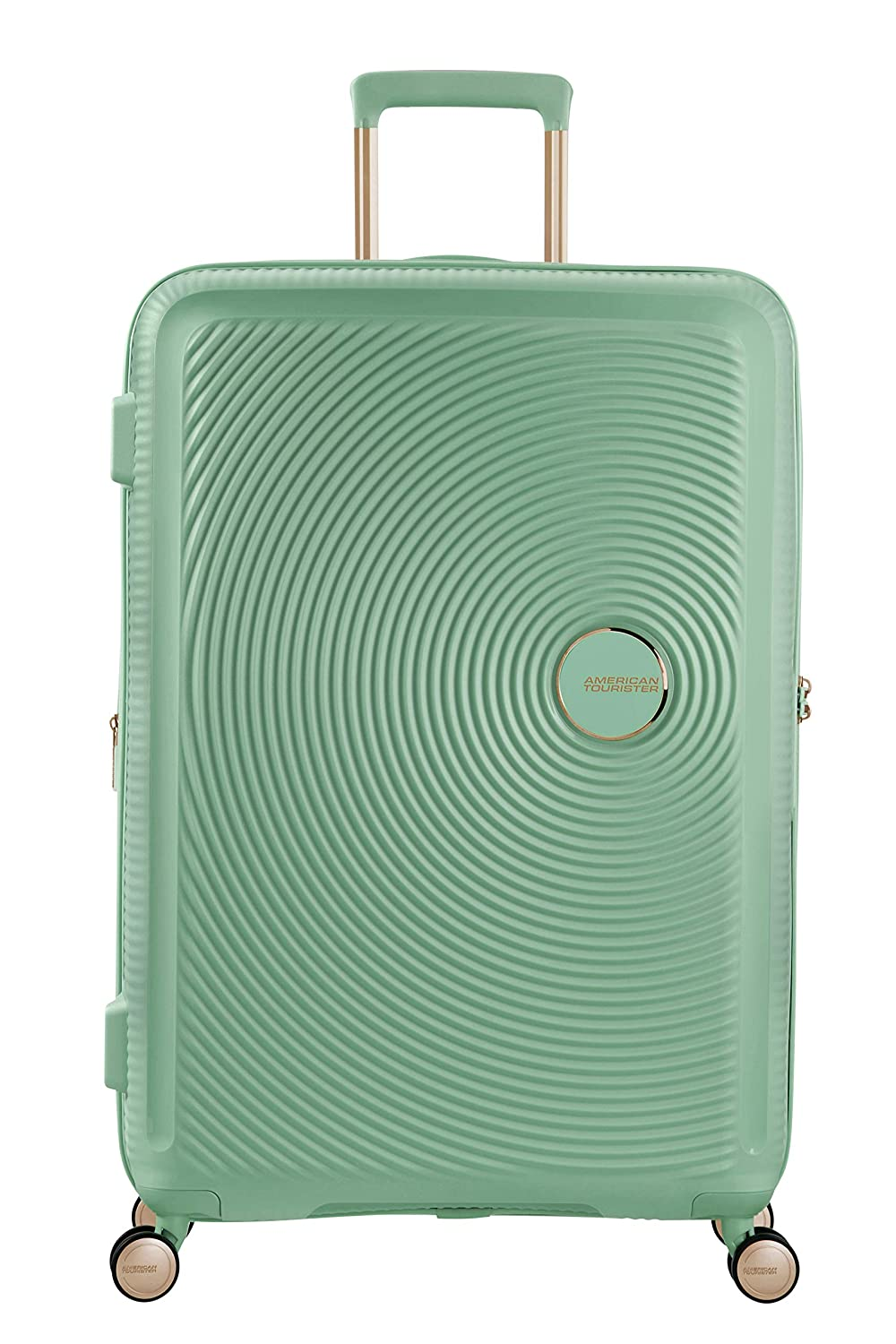 American Tourister Soundbox - Spinner Large Expandable Equipaje de Mano, 77 cm, 110 Liters, Verde (Almond Green/Gold): Amazon.es: Equipaje