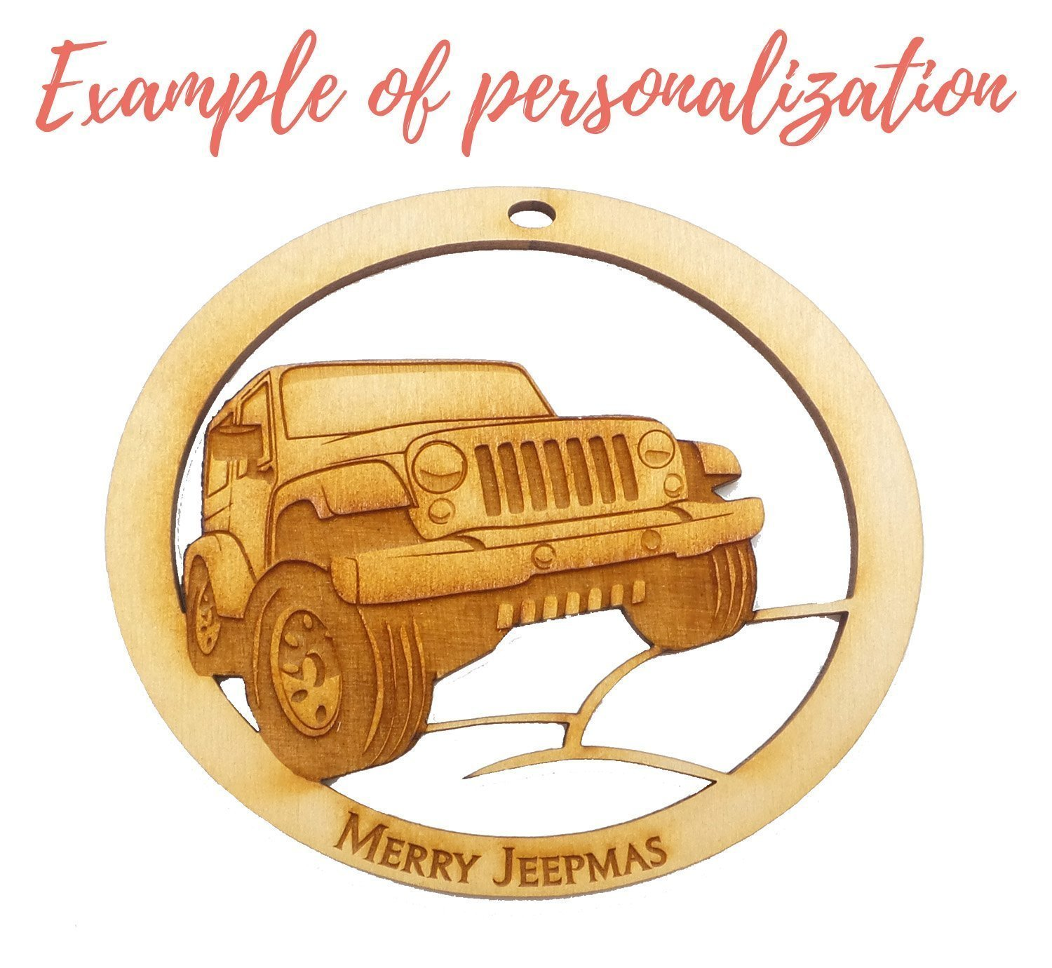 Personalized Jeep Ornament - Jeep Gift Ideas