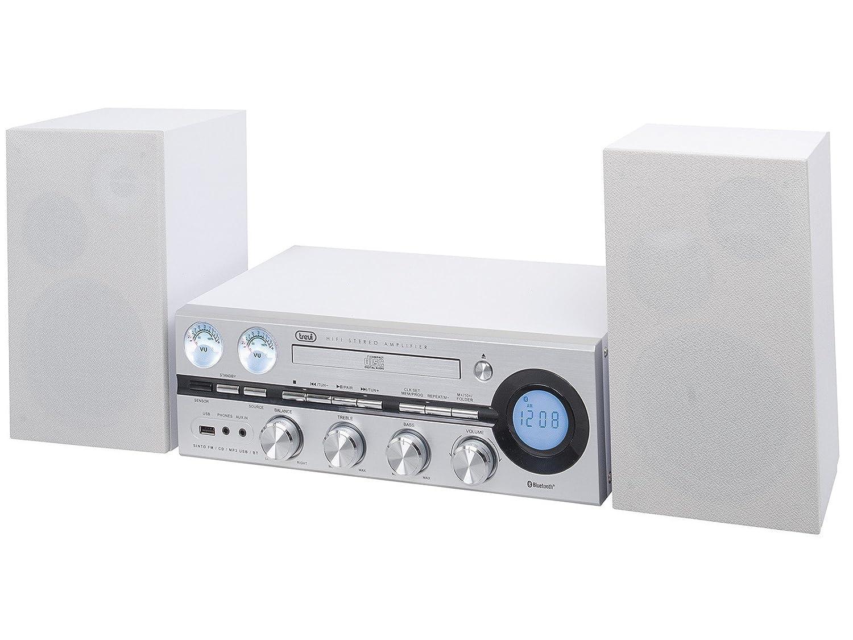USB Trevi HF 1900 BT Sistema Stereo Hi-Fi con CD Grigio Mp3 ...