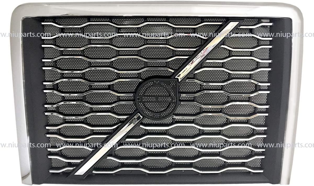 Front Grille with Logo Emblem Bar and Bug Screen Fit: 2018-2019 NEW Volvo VNL