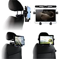 """Navitech tragbar In Auto Kopfstütze / Rücksitz Schwarz Expandable feste Griff Halterung für die Samsung Galaxy Tab A T580 10.1"""" Tablet"""