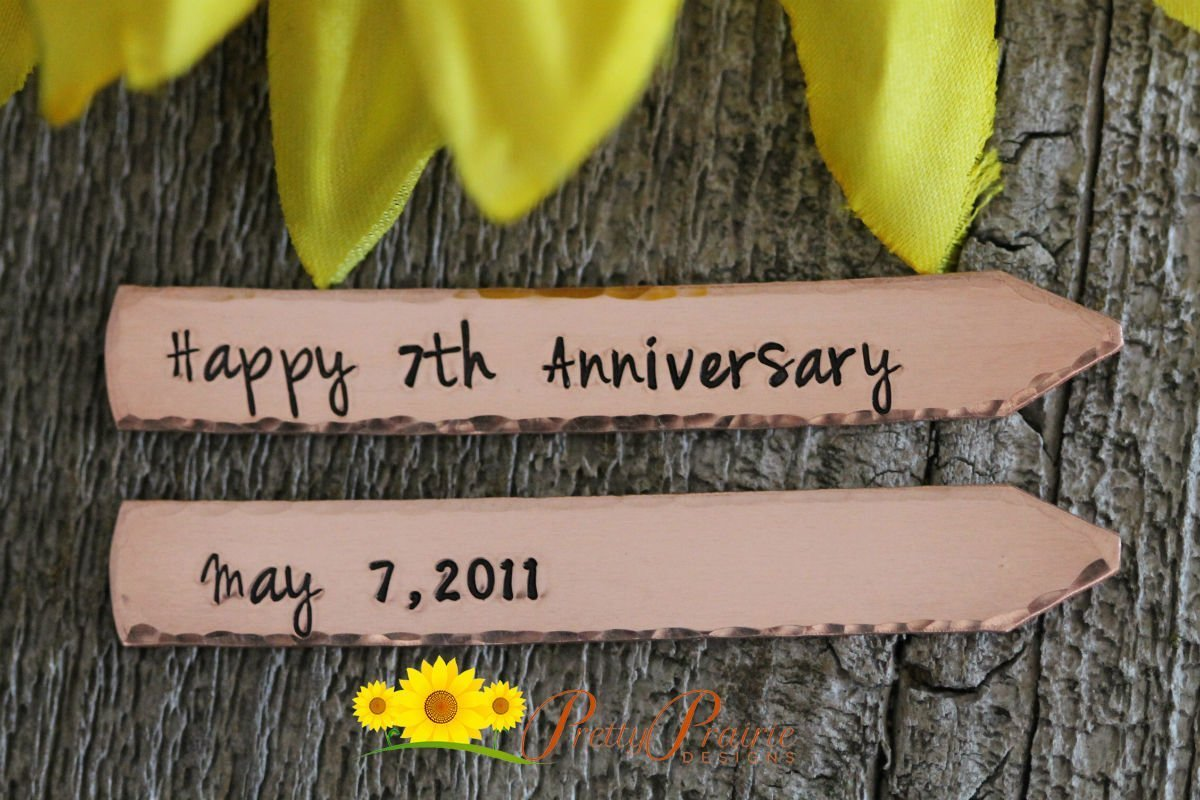 Shirt Stays Happy Anniversary Collar Stays Personalize Best Anniversary Gift for Husband or Boyfriend Hand Stamped Dress Shirt Stays