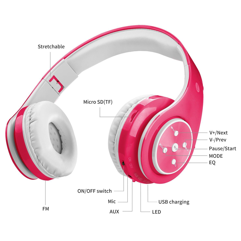 Votones Wireless Headphones Lightweight Adjustable Microphone Image 3