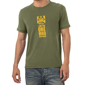 NERDO I Am The One Who Catches Camiseta, Hombre, Verde Oliva, XX ...