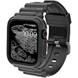 elkson Compatible with Apple Watch Series 6 SE 5 4 Bumper case Band 44mm iwatch Quattro Pro Series Fall Protection Durable Mi