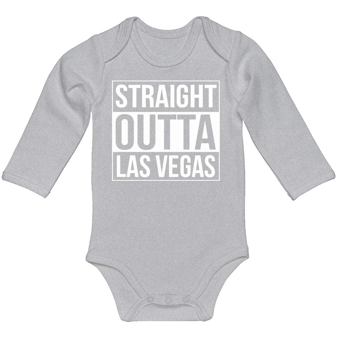 Baby Romper Straight Outta Las Vegas 100/% Cotton Long Sleeve Infant Bodysuit