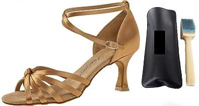 Diamant 109–087–087Femme Chaussures de Danse + MC de Danse aufrauh Brosse - Beige - Beige MFmjkls,