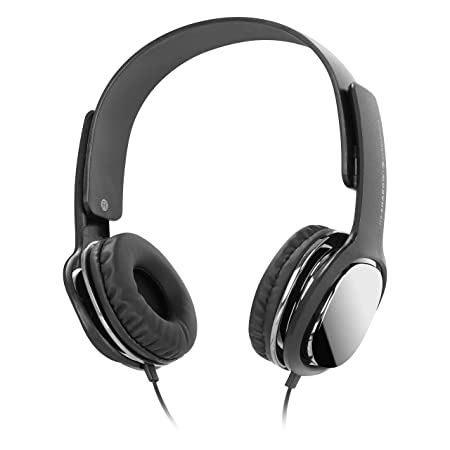 Zebronics Zeb Shadow Wired Headphone with Mic Black, Over The Ear  Over Ear Headphones