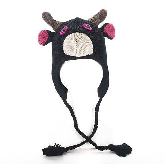 4c892a729d0 Amazon.com  Handmade Knit 100% Wool Unisex Animal Winter Nepal Hat ...