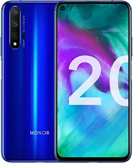 "Honor 20 Smartphone, 6 GB RAM, Memoria 128 GB, Display 6.26"" FHD+, 2340 x  1080 px, CPU Kirin 980, Quadrupla Fotocamera Posteriore 48+16+2+2 MP,  Fotocamera Anteriore da 32 MP, Blu [Italia]: Amazon.it: Elettronica"